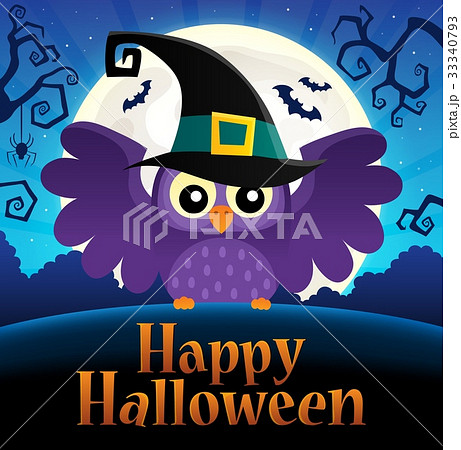 Happy Halloween sign thematic image 1 33340793