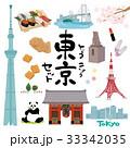 東京 イラスト セット 33342035