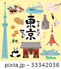 東京 イラスト セット 33342036