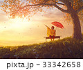 子供 傘 雨傘の写真 33342658