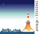 東京タワー 夜景 イラスト 33342942