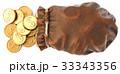 ドル カバン 巾着のイラスト 33343356