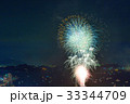 夏祭り 打ち上げ花火 花火の写真 33344709