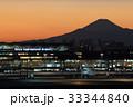 富士山 夕焼け 羽田空港の写真 33344840