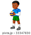 Cartoon male Volleyball Player 33347830