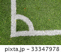 Artificial soccer corner grass field 33347978