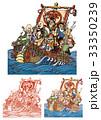 七福神 宝船 ベクターのイラスト 33350239