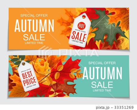 Abstract Vector Illustration Autumn Saleのイラスト素材 [33351269] - PIXTA