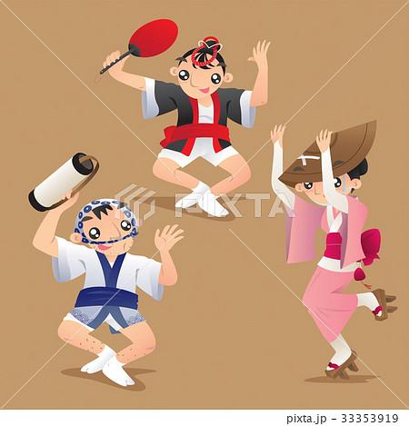 Female and male dancers of Awa dance festival 33353919