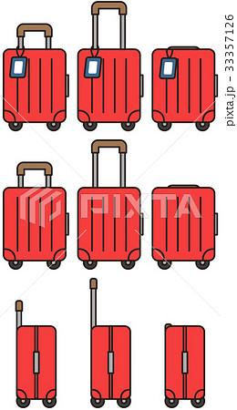 赤いキャリーケース・旅行バック・ビジネスバッグ 9カット 33357126