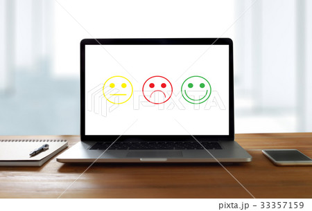 business man and woman select happy on evaluation?の写真素材 [33357159] - PIXTA