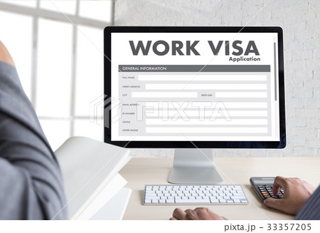 work visa application employment recruitment toの写真素材 33357205