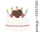 誕生日ケーキ バースデーケーキ デコレーションケーキのイラスト 33357260