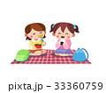 女の子 遠足 ピクニックのイラスト 33360759