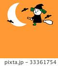 ハロウィン 魔法使い 背景のイラスト 33361754