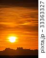 軍艦島と夕陽 33363327