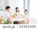 若い家族(朝食) 33363494