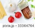 アンチョビとミニトマトとにんにくのパスタの材料 33364764