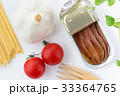アンチョビとミニトマトとにんにくのパスタの材料 33364765