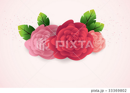 Floral Greeting Card. Elegance flowers bouquetのイラスト素材 [33369802] - PIXTA