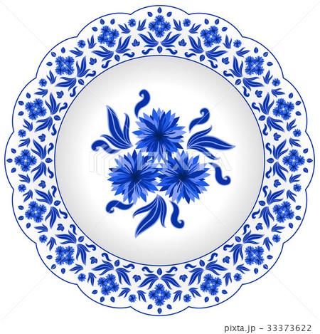 Decorative porcelain plate のイラスト素材 [33373622] - PIXTA
