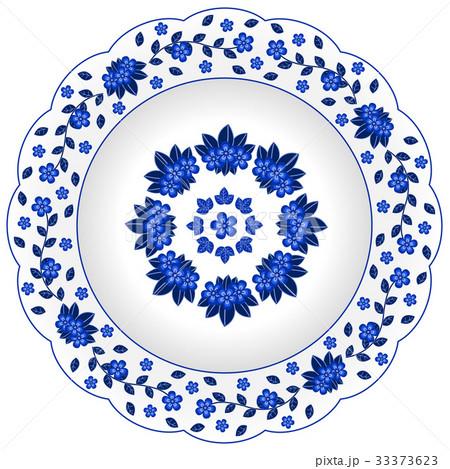 Decorative porcelain plate のイラスト素材 [33373623] - PIXTA