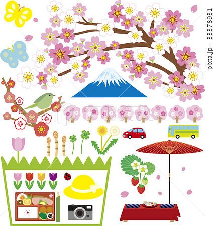 春の風景とアイテム 33378931