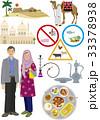 イスラム圏の男女の装いとアイテム 33378938