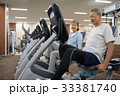 エアロバイク スポーツジム 夫婦の写真 33381740
