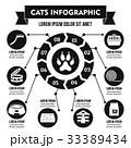 猫達 ベクトル 黒色のイラスト 33389434