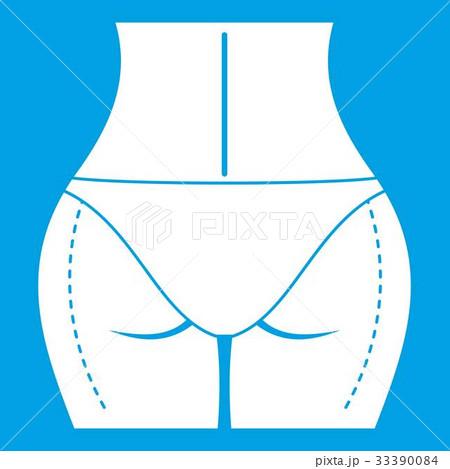 Woman buttocks prepared to plastic surgery icon 33390084