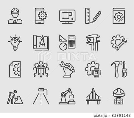 Engineering line icon 33391148