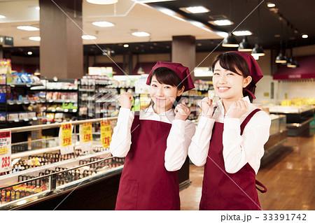 スーパー スーパーマーケット 店員 スタッフ 33391742