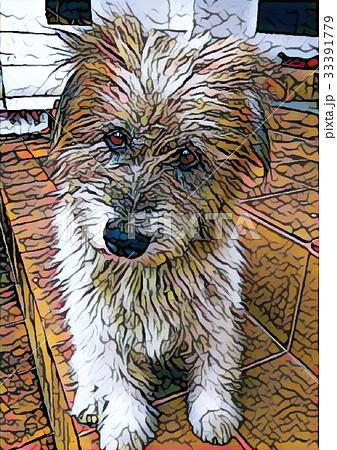 little dog paintingのイラスト素材 [33391779] - PIXTA