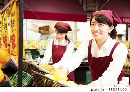 スーパー スーパーマーケット 店員 スタッフ 33393190