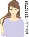 さらさらヘアの女性 33397736