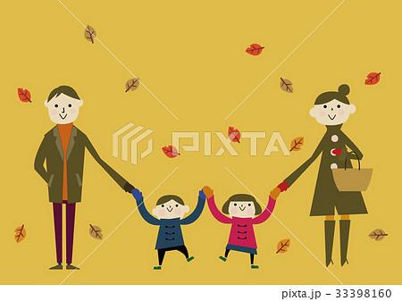秋 風景 イメージ 家族 33398160