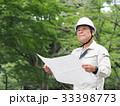 男性 図面 現場監督の写真 33398773