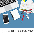 デスク 机 オフィスのイラスト 33400748