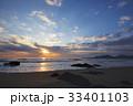 夜明けの海(自然風景) 33401103