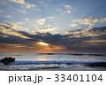 夜明けの海(自然風景) 33401104