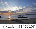 夜明けの海(自然風景) 33401105