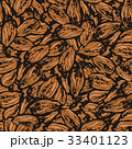 Ink hand drawn seamless pattern with almond 33401123