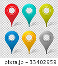 Set Of Mapping Pins Icon 33402959