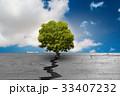 ひび割れ 亀裂 樹木のイラスト 33407232