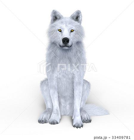 オオカミのイラスト素材 33409781 Pixta
