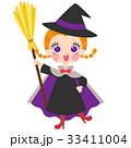 魔女の仮装をした女の子のイラスト 33411004
