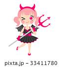 悪魔の仮装をした女の子のイラスト 33411780