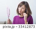 女性 悩み 手鏡の写真 33412873