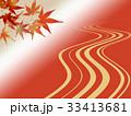 紅葉 和柄 背景のイラスト 33413681